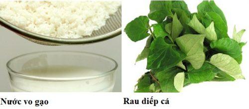 Chữa ho cho trẻ em bằng nước vo gạo và rau diếp cá