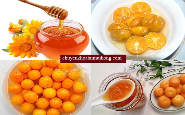 Chữa bệnh đau họng, viêm họng bằng mật ong và quất
