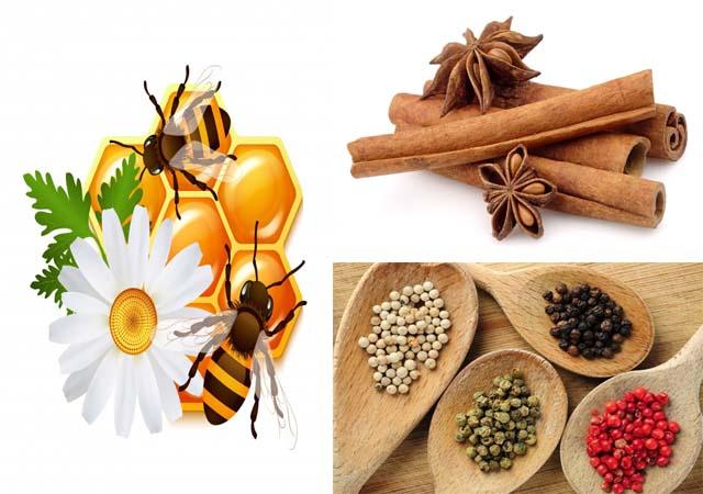 Chữa viêm họng mãn tính bằng mật ong, bột quế, hạt tiêu
