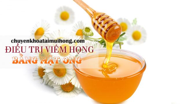 Sử dụng mật ong điêu trị viêm họng