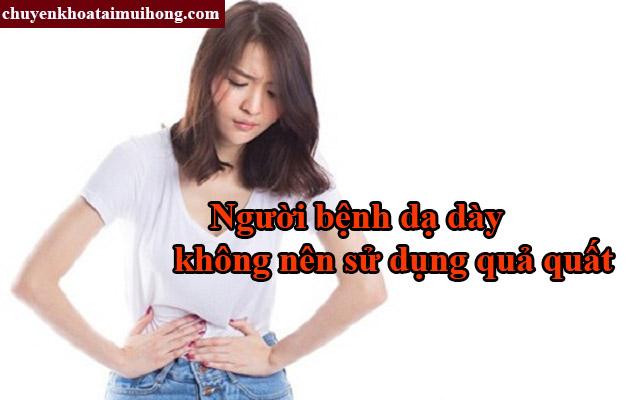 Người đau dạ dày không được sử dụng quả quất