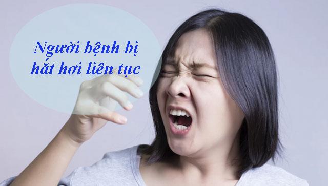 Hắt hơi - Dấu hiệu bệnh viêm mũi dị ứng
