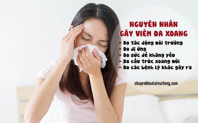 Những nguyên nhân gây viêm đa xoang