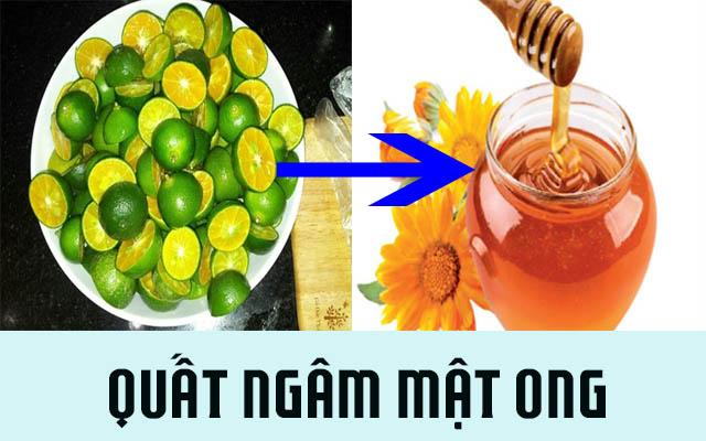Chữa ho viêm họng bằng quất ngâm với mật ong