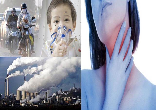 Ô nhiễm môi trường - Nguyên nhân gây ra bệnh viêm họng