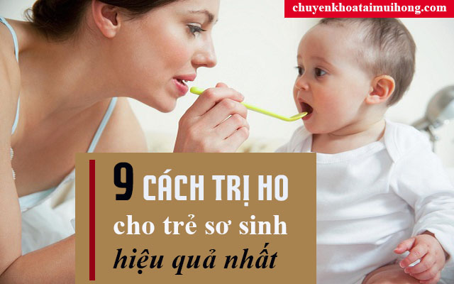 Cách trị ho cho trẻ sơ sinh