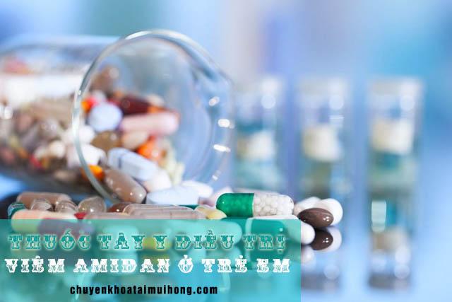 Tây y điều trị viêm amidan cho trẻ