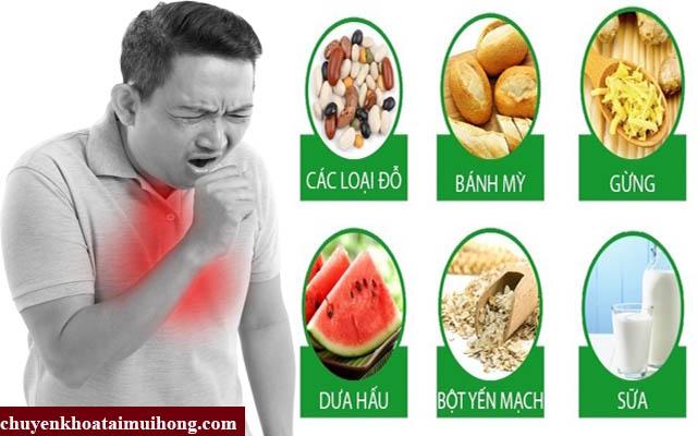 Những loại thực phẩm bệnh nhân bị ho nên ăn và cần kiêng