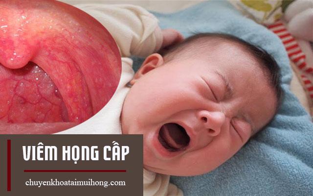 Chữa viêm họng cấp cho trẻ sơ sinh
