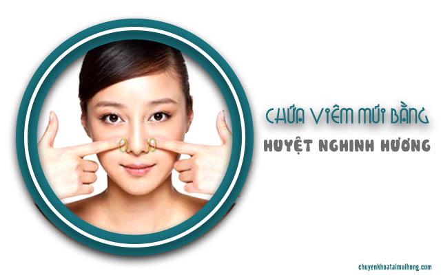trị viêm mũi dị ứng bằng bấm huyệt