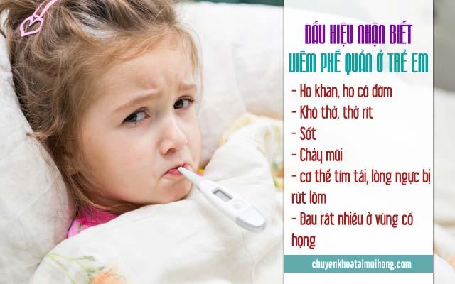 Những dấu hiệu nhận biết viêm phế quản ở trẻ