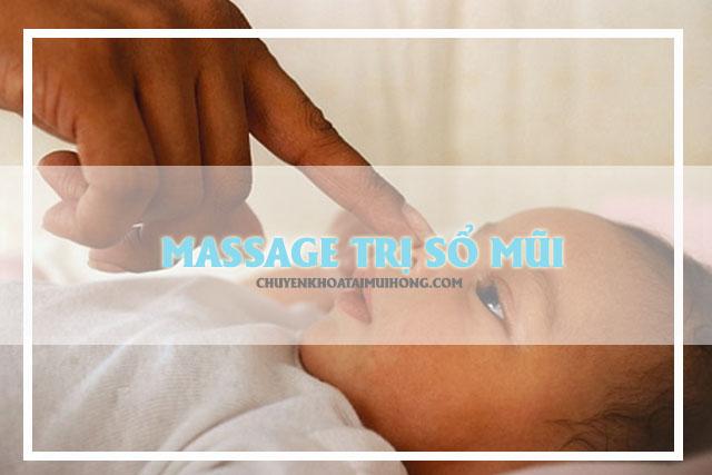 Massage trị sổ mũi cho bé