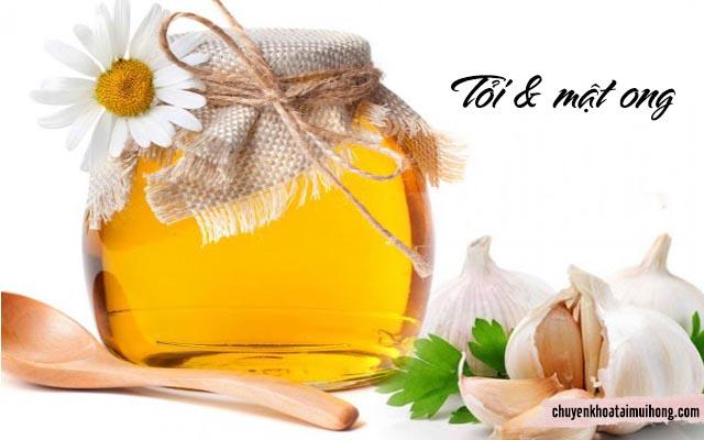 tỏi và mật ong chữa viêm xoang
