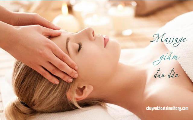 massage chữa đau đầu