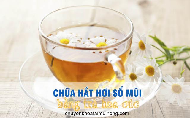 Uống trà hoa cúc chữa hắt hơi sổ mũi