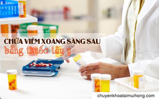 Chữa viêm xoang sàng sau bằng thuốc Tây y