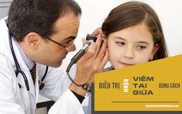 cách điều trị viêm tai giữa ở trẻ
