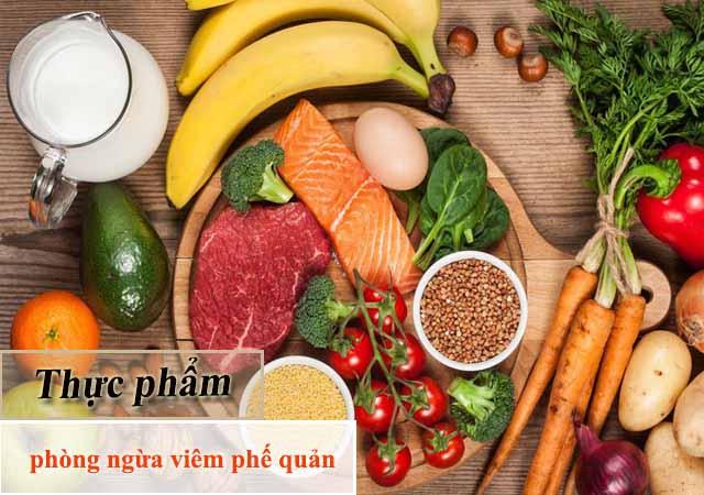 Bổ sung thực phẩm phòng ngừa viêm phế quản