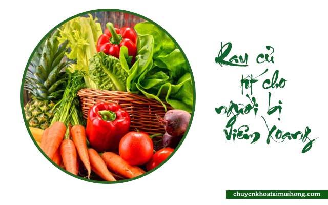 rau củ tốt cho người bị viêm xoang