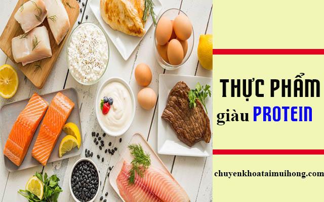 Thực phẩm giàu protein cho bệnh nhân viêm họng