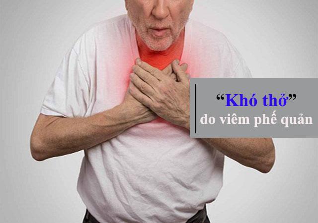 Khó thở - Triệu chứng của bệnh viêm phế quản