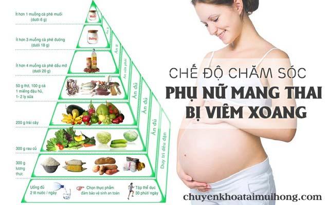 Chế độ chăm sóc cho phụ nữ mang thai bị viêm xoang