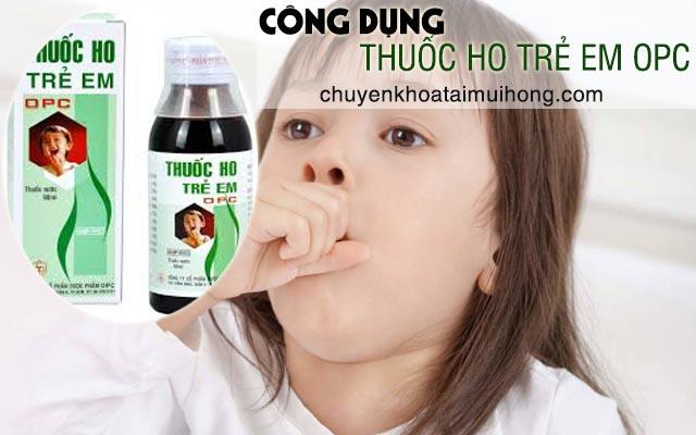 Công dụng thuốc ho trẻ em OPC