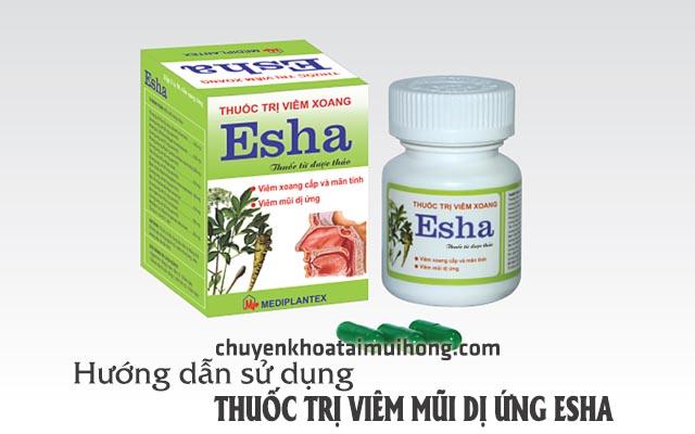 Hướng dẫn cách sử dụngthuốc trị viêm mũi dị ứng Esha