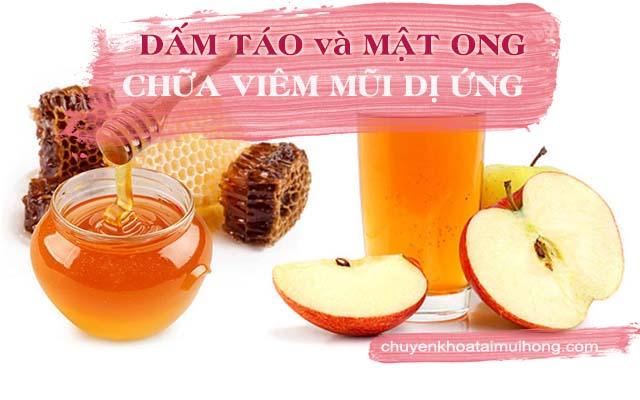 Dấm táo và mật ong chữa viêm mũi dị ứng