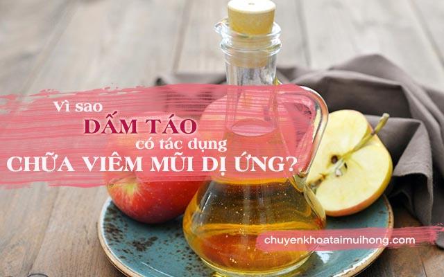 Dấm táo chữa bệnh viêm mũi dị ứng