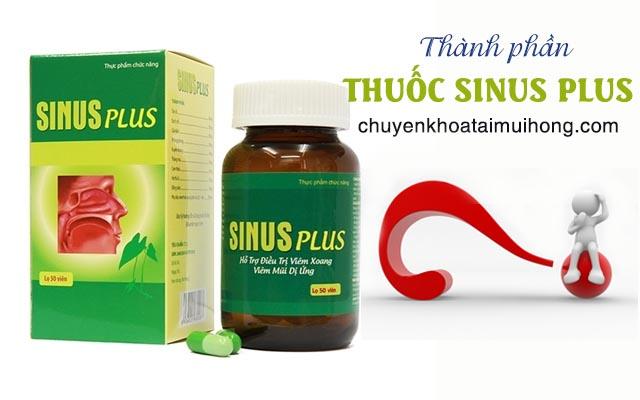 Thành phầnthuốc Sinus Plus