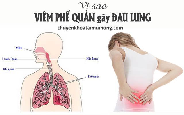 Nguyên nhân dẫn đến viêm phế quản gây đau lưng