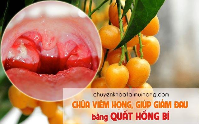 Quất hồng bì chữa viêm họng giúp giảm đau