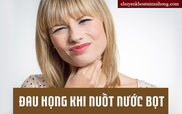 Cách chữa nuốt nước bọt gây đau họng