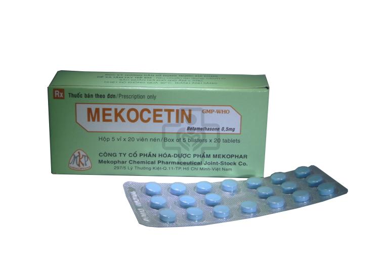 Mekocetin- Tác dụng và liều dùng