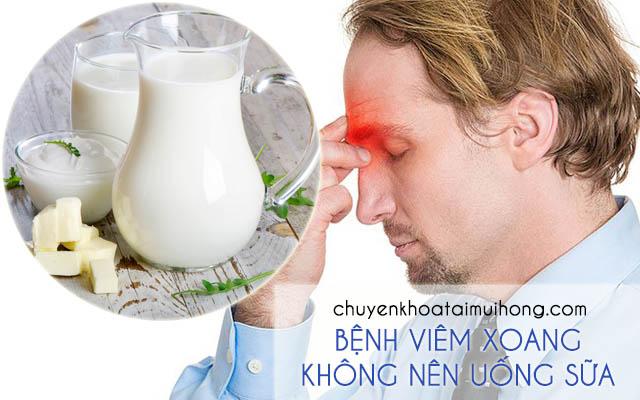 Bệnh nhân bị viêm xoang không nên uống sữa