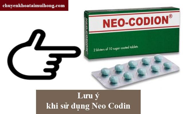 Các lưu ý khi dùng Neo Codion cho người bệnh