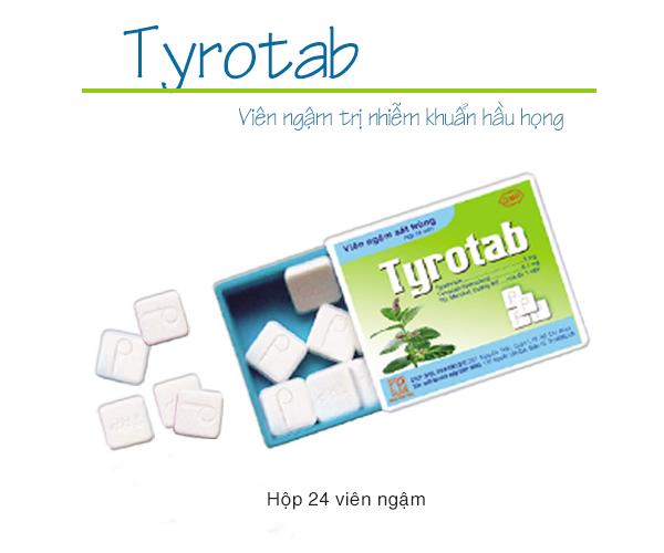 Tyrotab trị viêm họng viêm amidan