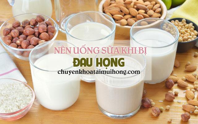 Bị đau họng nên uống sữa để cải thiện bệnh
