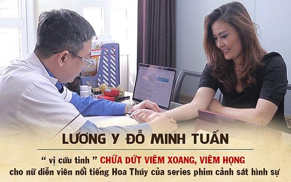 Lương y Đỗ Minh Tuấn chữa dứt điểm viêm xoang, viêm họng cho diễn viên Hoa Thúy