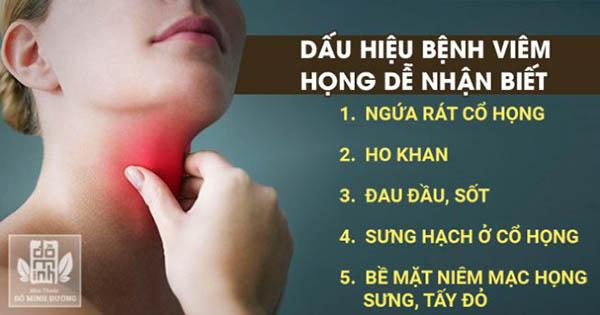 Nhận biết sớm dấu hiệu của bệnh viêm họng để biết cách xử lý tránh nguy hiểm về sau