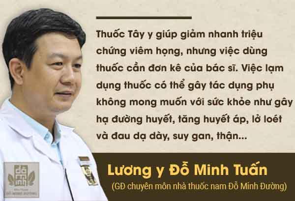 Lương y Đỗ Minh Tuấn chia sẻ về cách chữa bệnh bằng tây y