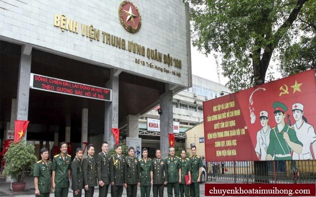 Bệnh viện Trung ương quân đội 108 chữa viêm họng