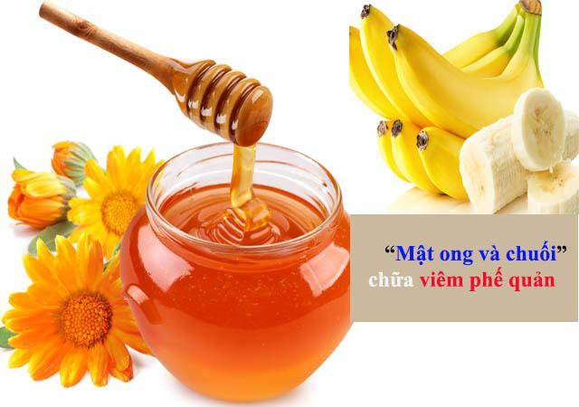 Mật ong và chuối - Nguyên liệu chữa bệnh viêm phế quản