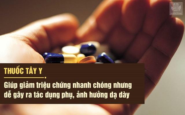 Thuốc tây y giảm đau nhanh nhưng có thể gây tác dụng phụ, ảnh hưởng đến sức khỏe