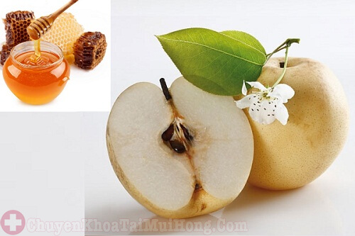 Chữa ho bằng lê và mật ong