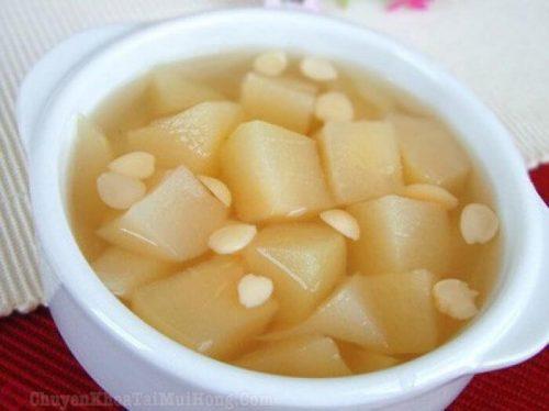 Chữa ho bằng lê và hạt sen