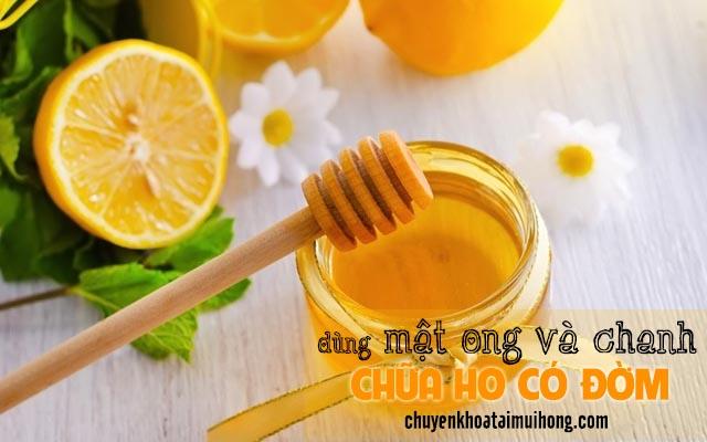 Chữa ho có đờm bằng mật ong và chanh