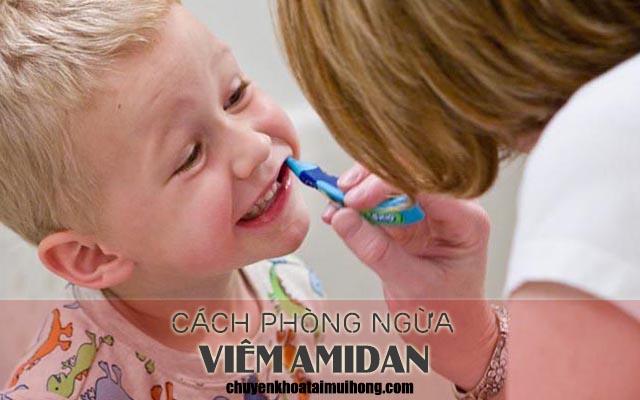 Những cách phòng ngừa viêm amidan