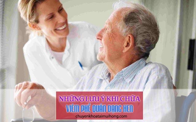 Những lưu ý khi chữa viêm phế quản dạng hen